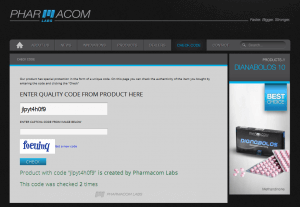 Pharmacom Labs PHARMA Bold 300 Lab Test Results - quality code verified