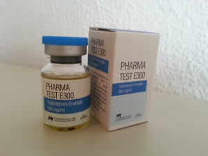 Pharmacom Labs PHARMA Test E300 (testosterone enanthate) - vial and box