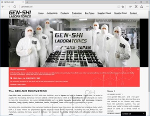 Gen-Shi website notice of underdosed products