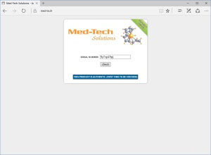 Med-Tech Solutions Tren E - serial number verified