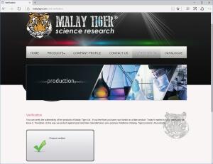 Malay Tiger Oxyndrol product verified