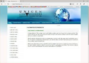 Unigen Life Sciences Depo-Test 250 authentication