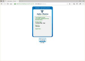 Alpha Pharma Testobolin authenticity code verified