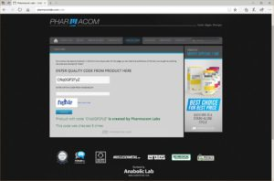 Pharmacom Labs Dianabolos verification
