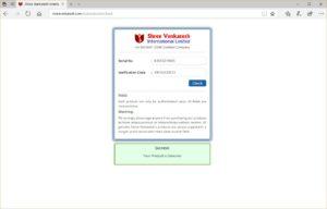 Shree Venkatesh Rolon 200 authentication