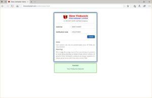 Shree Venkatesh VBOL verification
